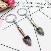 Wholesale mini plant shovels resale online - by FEDEX Novelty Metal Mini Shovel Keychains Vintage Shovel Keyrings for Gifts