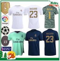 camiseta de fútbol de bala al por mayor-19 20 Real madrid fútbol Jersey Benzema JOVIC MILITAO Modric Ramos Bale PELIGRO 2019 2020 adulto hombre mujer niños deportes Fútbol camiseta