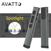 a2 android tv großhandel-Metallkasten Spotlight Digital-Laser-2.4G Wireless Presentation Remote Control, Wiederaufladbare PPT Presenter Clicker mit Air Mouse