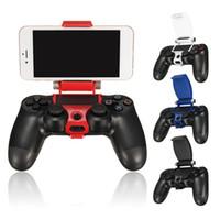 Wholesale Smart Mobile Phone Clip Holder Clamp Mount Adjustable Bracket Handset for playstaton for PS4 Controller DHL FEDEX UPS EMS