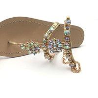 Wholesale comfort sandal women for sale - Group buy Hot Sale Sandals Comfort Women Shoes Rhinestones Flat Sandals Slippers Ladies Shoes Woman Sandalie Plus Szie