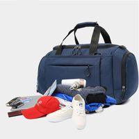сумки для путешествий оптовых-Weekender ночь сумка путешествия вещевой мешок для мужчин женщин носить на сумки с обувью отсек прочный водонепроницаемый Оксфорд