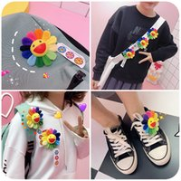 Wholesale flower brooch cloth resale online - Sun Flower Brooch Cute Plush Cloth Bag Pin Badge Girl Cartoon Pin Korean Fashion Jewelry Bag Pendant