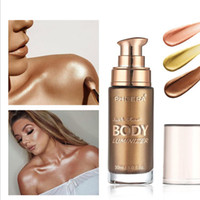 Wholesale perfect long hair resale online - Makeup highlight shimmering soft gold body perfect for hair and light tone liquid glowing for woman ml