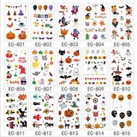 Wholesale body stickers for halloween for sale - Group buy Halloween Tatoo For Kid Toys x7 CM Fake Tatoo Children Halloween Body Art Waterproof Pumpkin Temporary Tattoo Sticker Styles Gifts