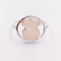 Wholesale rise ring resale online - Bear Jewelry Sterling Silver rings Silver Camille Ring With Rose Quartz Fits European Jewelry Style Gift C712165610