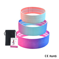 Wholesale leg resistance bands resale online - Booty Builder Hip Resistance Bands Set Fabric Non Slip for Fitness Yoga Pilates Legs and Butt Glute Workout Stretching Training