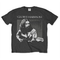 Wholesale george t shirt online - George Harrison Men s Live Portrait Short Sleeve T shirt Grey charcoal fear cosplay liverpoott tshirt