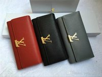 Wholesale long male wallets for sale - Group buy hot Male luxury wallet Casual Short designer Card holder pocket Fashion Purse wallets for men wallets purse with tags