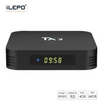 ingrosso scatole televisive-TX3 contenitore di android TV con android9.0 S905X3 2GB / 4GB di RAM 16GB / 32GB / 64GB ROM 2.4G + 5G WIFI Meglio di TX3 X96 mini