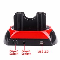 2,5 zoll hdd docking station großhandel-Freeshipping Bequem 2,5 Zoll 3,5 Zoll IDE SATA USB 2.0 Dual HDD Festplatte Docking Station Base Support Festplatte Kann