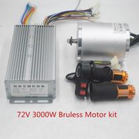 ingrosso automobili parti del motore-72V 3000W scooter Con BLDC controller 50A della valvola a farfalla 3-Velocità ebike E-Car Part motore del motociclo