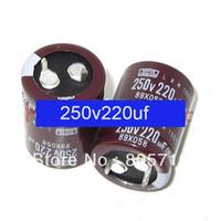 capacitor original venda por atacado-Freeshipping ORIGINAL 250 V 220uF 22 * 30mm capacitor eletrolítico Capacitor Eletrolítico 105 grau capacitor 50 pc / lote