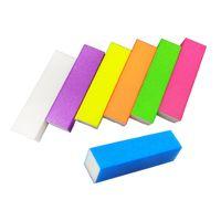 Wholesale white block buffers for sale - Group buy 10pcs Colors Sponge Nail File Buffer Block For UV Gel Polish Manicure Pedicure Side Sanding Nail Art Tools White Files
