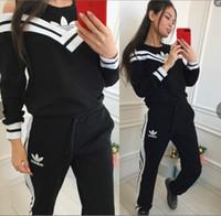 Wholesale tennis clothing for women resale online - 2018 neo women s Clothing Women Sportswear Hoodies Women Jogging Sport Suit for Yoga wear Leisure clothes Aerobics clothing