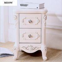 meuble chambre à coucher blanche achat en gros de-Armoire de chevet en bois massif européen Mini simple chambre à coucher Meubles de chevet Armoire de réception Armoire de chambre blanche simple