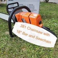 "MS381 chainsaw with 18"" bar and sawchain MS382 gasline chain saw big power cutting wood"