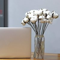 Wholesale wired wreath for sale - Group buy 30 White Natural Cotton Boll Balls Wire Stem Inch Length for Wreaths Decor Off Stick Branches Wired Raw Look White Cott
