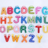 Wholesale wooden magnets children for sale - Group buy Wooden Letters And Numbers Fridge Magnets Educational Learning Toys Children Gifts Funky Colorful Cartoon Crafts Home Decor