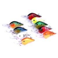 señuelos de pesca de bajo libre al por mayor-20pcs SEÑUELOS DE PESCA PESTAÑAS DE GANCHO BAJOS Cigüeñales 9.5CM 11.2G 6 # ganchos 95mm Minnow Hard Fishing (CB024) envío gratis