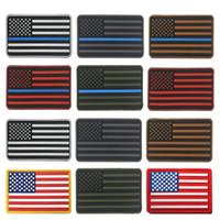 taktischen usa-flagge patch groihandel-Gestickte USA USA Flag Patches Armee Abzeichen Patch Taktische Patches US Amerika Flag Armband Vereinigte Staaten Flagge Abzeichen