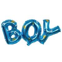 şişirilebilir folyo harfleri toptan satış-Büyük Boy Erkek Doğum Günü Tema Parti Dekorasyon Kız Mektuplar Folyo Balonlar Alüminyum Dekoratif Şişme Hava Balonları