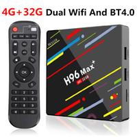 caixa de tv android 32 gb venda por atacado-H96 Max mais Android 9.0 Smart TV Box Rockchip RK3328 4GB 32GB dual Wifi BT4.0 Smart TV Box H96 Max +