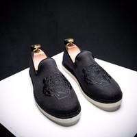 erkek kayma ayakkabıları toptan satış-Erkekler Tuval Ayakkabı Erkek Kenevir Espadrilles En Kaliteli Kaplan Nakış Tasarımcısı El Yapımı Balıkçı Ayakkabı Erkekler Loafer'lar Üzerinde Kayma Daireler Q-552