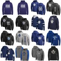 толстовки из кленового листа торонто оптовых-Дешевые пользовательские мужские женские дети Toronto Maple Leafs лучшее качество вышивка логотип черный синий серый темно-синий хоккей толстовки с любым именем нет.