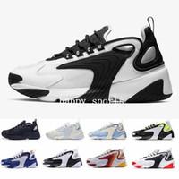 zapatos de estilo de los hombres reales al por mayor-2019 Men niike air max  Zoom 2K Lifestyle Zapatillas de correr Blanco Negro Azul ZM 2000 Estilo años 90 Zapatillas de deporte de diseño de diseñador M2K Zapatos cómodos causales
