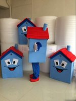 Wholesale plus size house dress resale online - 2018 Hot sale new Blue House Mascot Costume High Quality House Costume Party Carnival Fancy Dress Costume