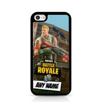 iphone 5c cas de silicone achat en gros de-Cas de téléphone personnalisé Fortnite Battle Royale Soldier pour Iphone 5c