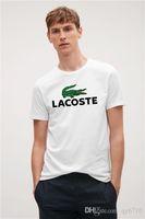 Wholesale quality womens size clothing online - New fashion Crocodile Designer High quality printing tshirts t shirts for mens womens Short Sleeves Poloshirts Tee Plus Size XL clothing