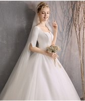 f8f7c8aabb6 простые свадебные платья с белыми рукавами оптовых-Свадебное платье 2019  зима новая внешняя торговля Европы