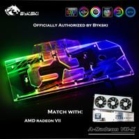 cartes graphiques radeon achat en gros de-Bykski A-RADEON VII-X Bloc de GPU à couverture complète pour VGA AMD RADEON VII Carte graphique Refroidisseur Dissipateur de chaleur Nouvelle arrivée