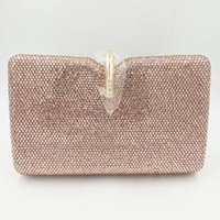 Wholesale prom handbags resale online - Luxury Evening Clutch Bags Pink Crystal Lady Purse Elegant Designer Mini Party Women Handbags Fashion Female Prom Phone Purse