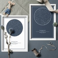 Wholesale personalized posters for sale - Group buy Custom Night Sky Map Print Personalized Map Of The Star Canvas Art Poster Painting Wall Art Home Decor For Living Room Unframed SH190919