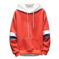 hombres sudaderas con precios bajos al por mayor-Cloudstyle 2019 Moda Rojo Sudaderas con capucha para hombres Sombrero blanco Japonés Otoño Casual Algodón para hombres Sudaderas con capucha Precio bajo Entrega rápida