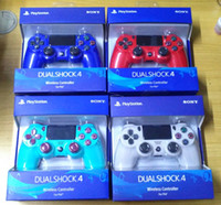 ingrosso ps4 wireless-nuovo pacchetto al dettaglio Controller wireless PS4 per Sony PlayStation 4 Sistema di gioco Controller per giochi Giochi Joystick dhl