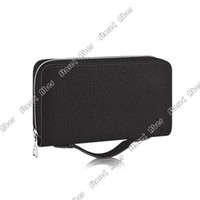 Wholesale wallet phone holders for sale - Group buy Aber Zippy XL Wallet round zipper wallet Popular Customization women wallets case Black Purse Woman Real Leather Passport Holder clutch bag