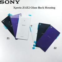 Wholesale battery sony z1 resale online - Original Sony Xperia Z1 Z2 Glass Back Housing Rear Door Cover For Z2 D6543 L50W D6503 Z1 L39H C6902 C6903 Repair Battery