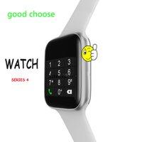 akıllı zil çağırıyor toptan satış-W34 44mm Bluetooth çağrı Akıllı İzle 1.5 ekran EKG Nabız Smartwatch ios Android telefon için erkekler kadınlar PK goophone izle 4 X GT88