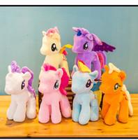dibujos animados al por mayor-18 cm Dibujos animados TY Beanie Boo Ojos grandes Pony Unicornio Peluches Brinquedos Juguetes de peluche de regalo para niños