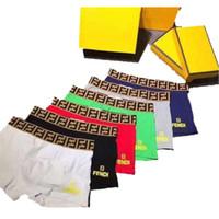 gelbe baumwollschlüpfer großhandel-FF Brief Designer Boxer Marke Herren Unterwäsche Luxus Mode Atmungsaktive Weiche Top Qualität Shorts Männer Unterhose 5 Farben S-2XL A6503