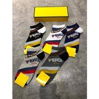5adet çorap toptan satış-5 adet / paket Etiketi ile Marka Mektup Ayak Bileği Çorap Kadınlar Rahat Spor Pamuk Çorap Lüks Tasarımcı Soocks Çorap Yeni Varış