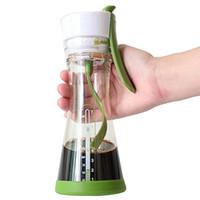 süt sallamak karışımı toptan satış-Taşınabilir Kahve Makinesi Manuel Karıştırma Fincan DIY Spiral Karıştırma Fincan Seyahat Su Şişesi Suyu Süt Shaker Çalkala ...