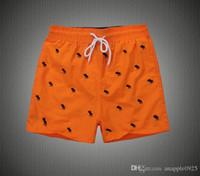 homens de perna larga venda por atacado-Hot New Verão dos homens Carta Shorts Homens Calções de Praia de Algodão Camo Causal Shorts de Skate Calças Curtas Soltas Streetwear
