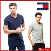 venda de camisetas venda por atacado-2019- venda quente Nova moda dos homens tshirt verão curto top quality POLO camisas designers famosos slim fit t shirt homens