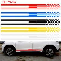 calcomanías de gráficos de cuerpo de camión al por mayor-215x9cm Racing Stripe Graphic Sticks Carrocería Carrocería Carreras Puerta Lateral Deporte Pegatinas de raya larga Calcomanía de vinilo automático para car styling