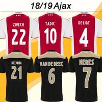ingrosso calcio ajax corti-2018 19 Ajax HUNTELAAR TADIC Pullover da calcio DOLBERG ZIYECH Home Away Maglia da calcio NERES DE JONG L.SCHONE DE LIGT Short Mens Uniforms